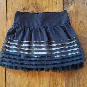 Free People Tulle Black mini skirt